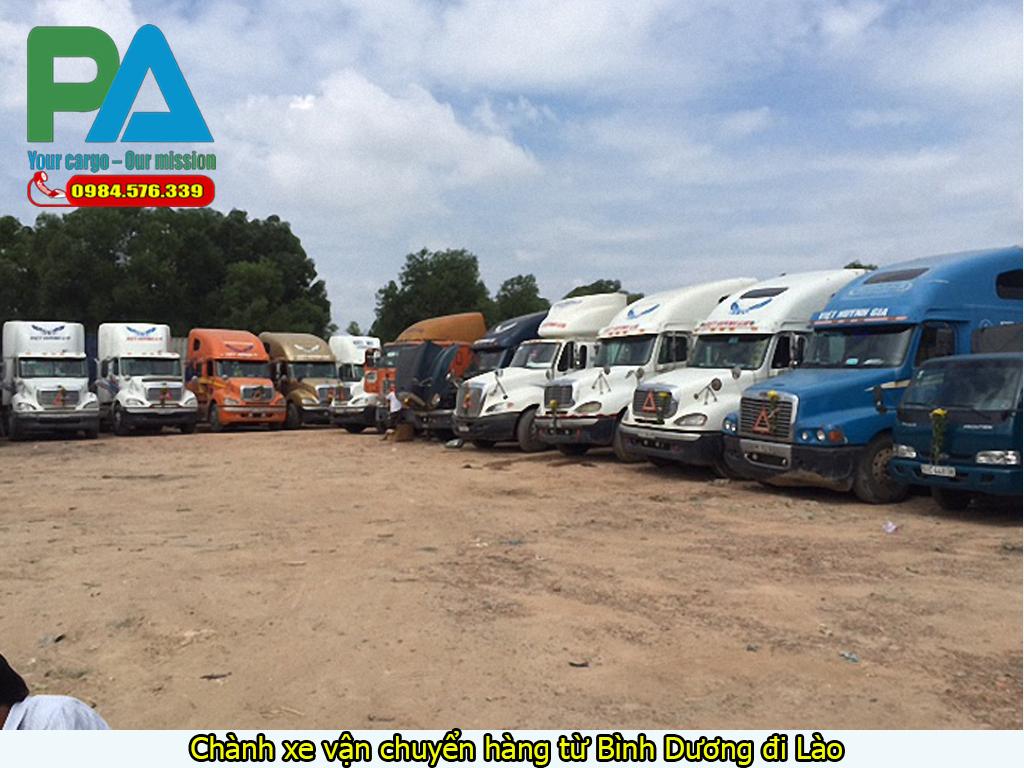 Chành xe vận chuyển hàng từ Bình Dương đi Lào