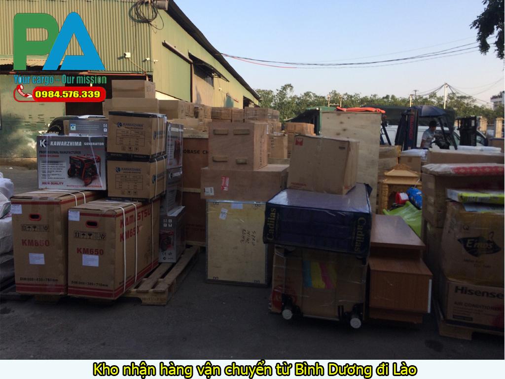 Kho nhận hàng vận chuyển từ Bình Dương đi Lào