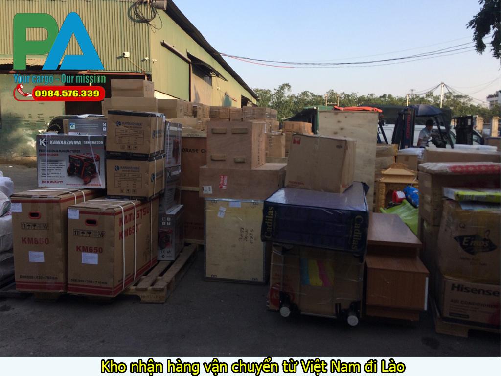 Kho nhận hàng vận chuyển từ Việt Nam đi Lào