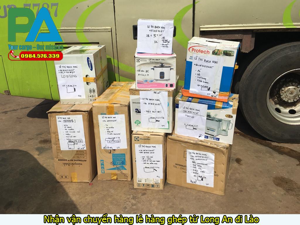 Nhận vận chuyển hàng lẻ hàng ghép từ Long An đi Lào