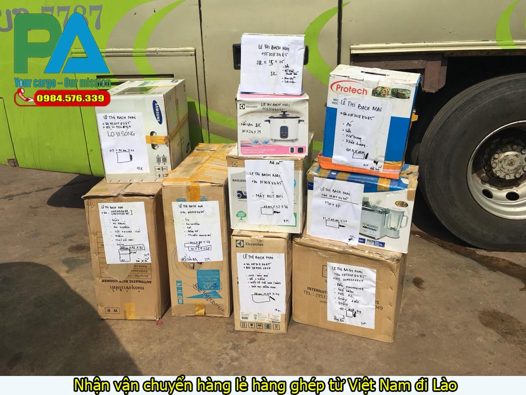 Nhận vận chuyển hàng lẻ hàng ghép từ Việt Nam đi Lào
