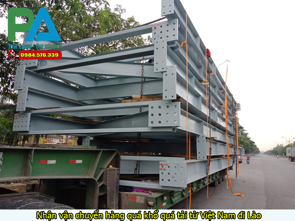 Nhận vận chuyển hàng quá tải quá khổ từ Việt Nam đi Lào