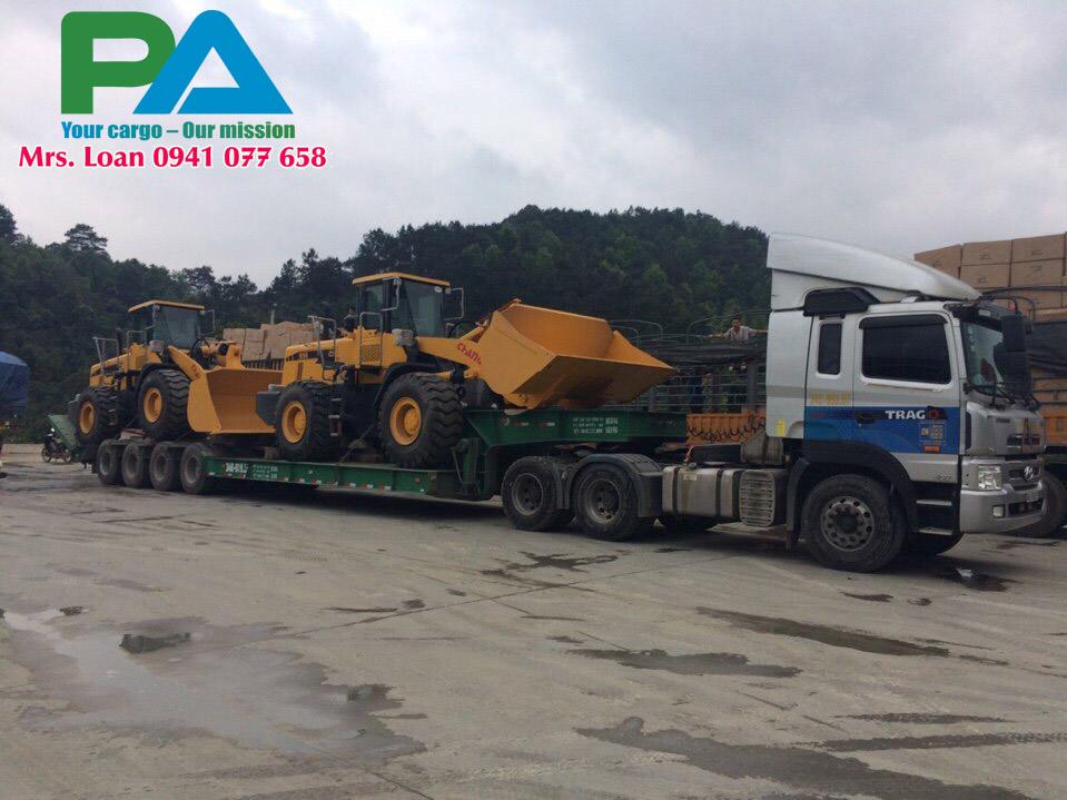Transport cargo overload to Laos