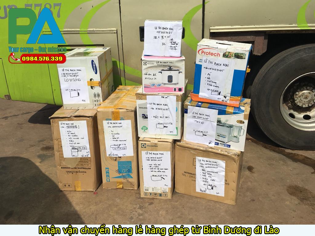 Vận chuyển hàng lẻ hàng ghép từ Bình Dương đi Lào