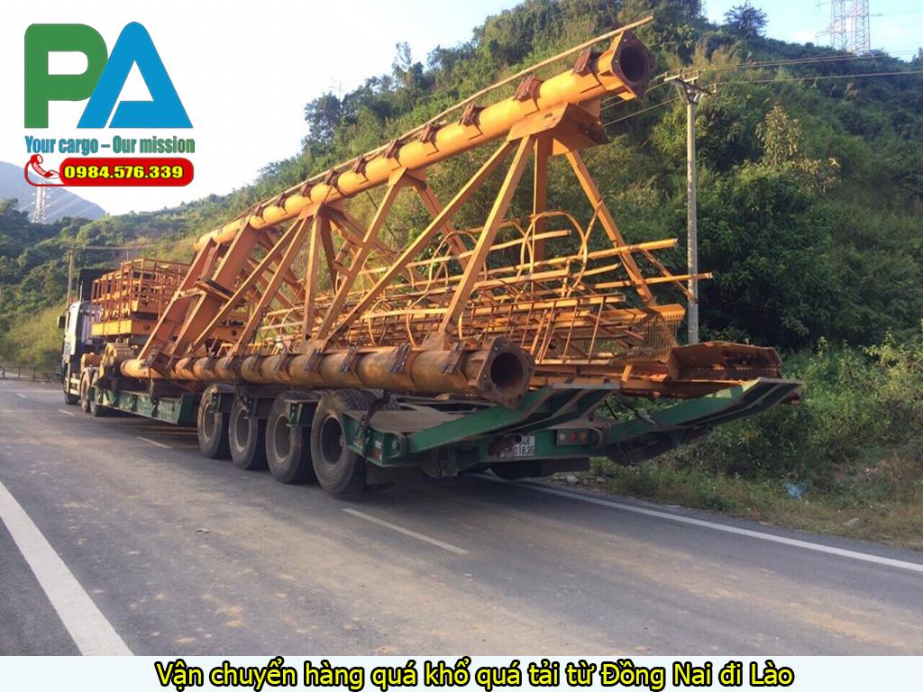 Vận chuyển hàng quá khổ quá tải từ Đồng Nai đi Lào