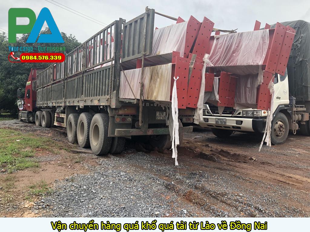 Vận chuyển hàng quá khổ quá tải từ Lào về Đồng Nai