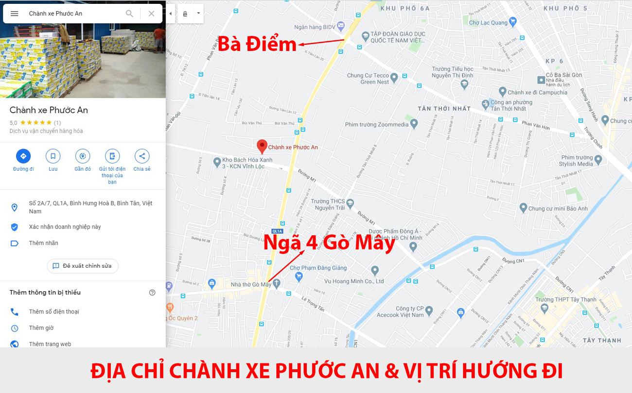 Vị trí Chành xe Phước An trên bản đồ