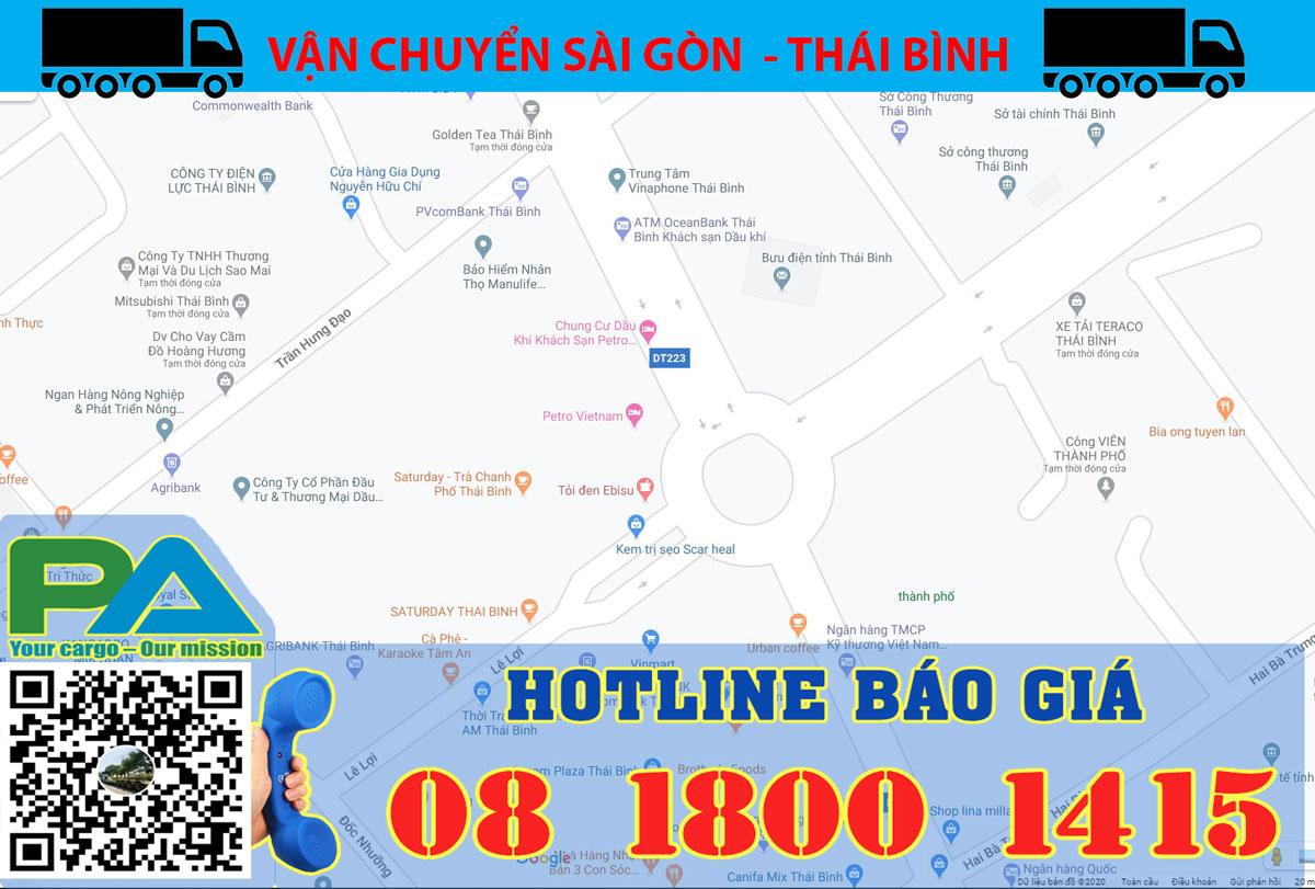 Chành xe Sài Gòn đi Thái Bình
