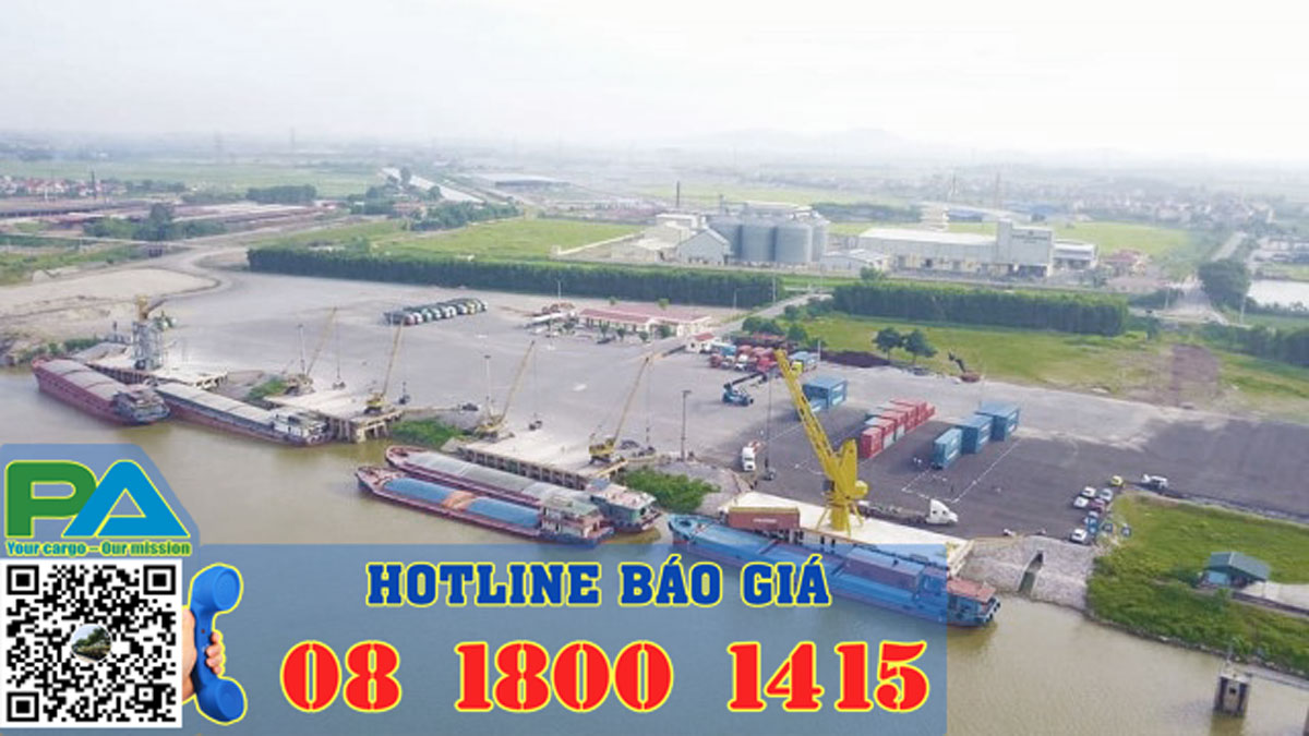 thuê sà lan chở hàng từ cảng