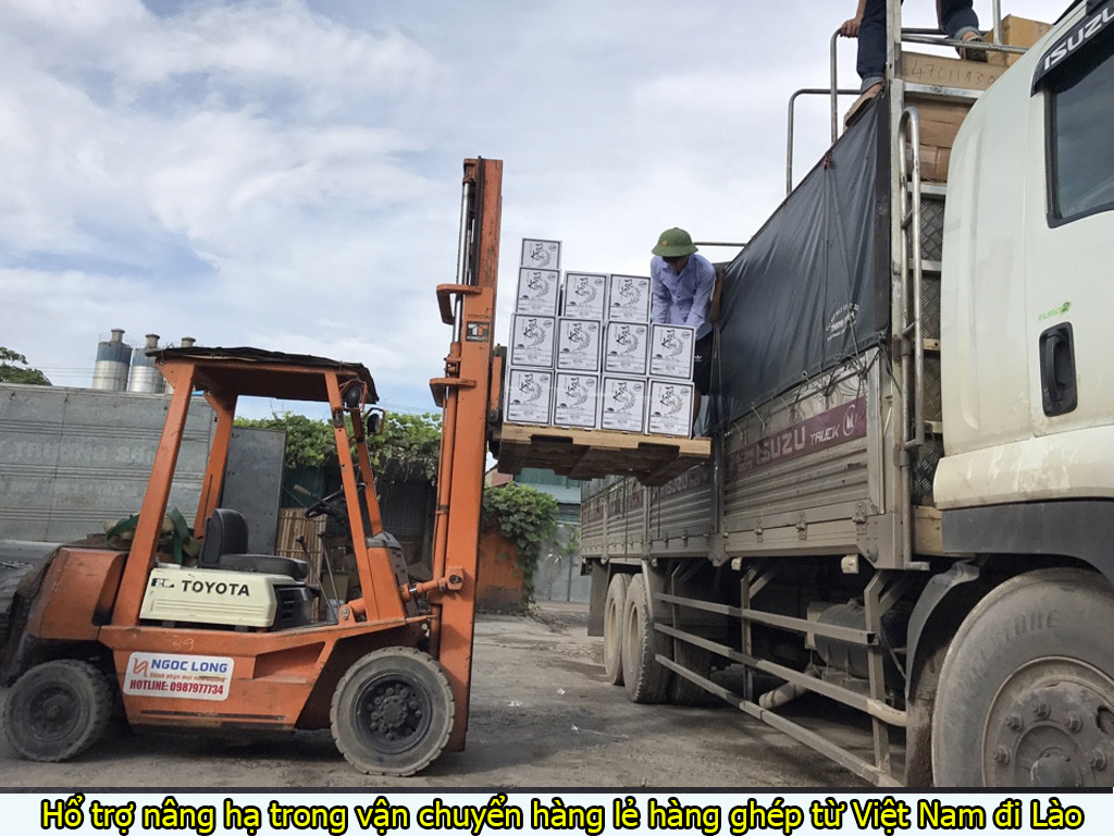 hổ trợ nâng hạ trong vận chuyển hàng lẻ hàng ghép từ việt nam đi campuchia