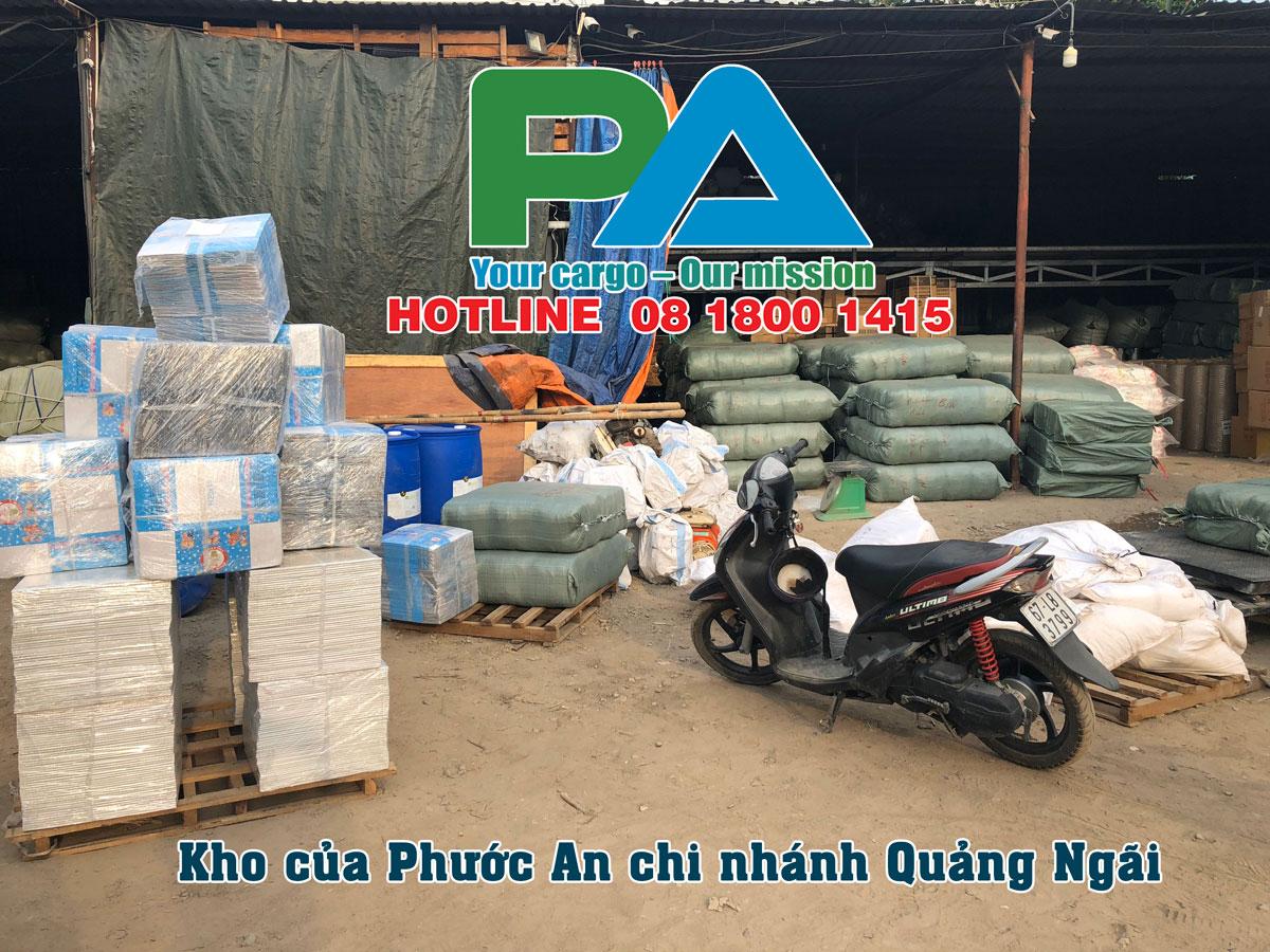 Kho hàng của Phước An tại Quảng Ngãi