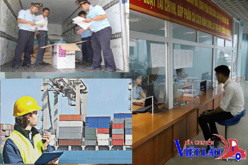 Hình thức làm Hải Quan và khai báo thuế tại cửa khẩu của dịch vụ làm hàng tiểu ngạch đi Viêng Chăn