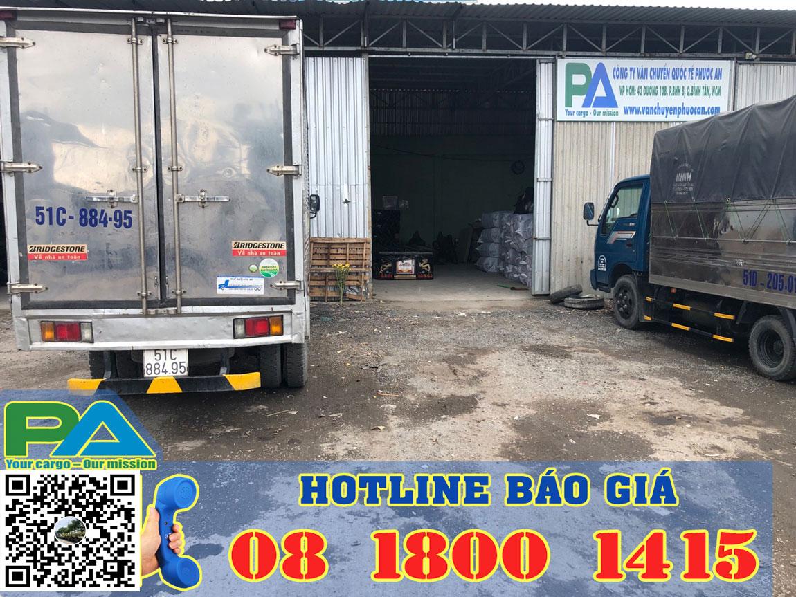 Nhà kho chành xe tại Sài Gòn chuyển hàng đi Campuchia giá rẻ