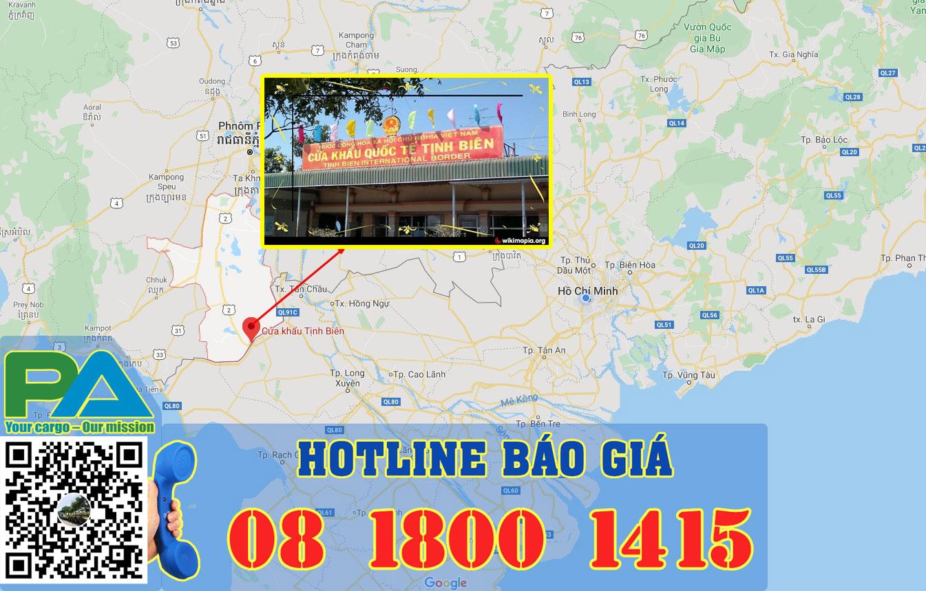 vận chuyển hàng đi takeo qua cửa khẩu Tịnh Biên