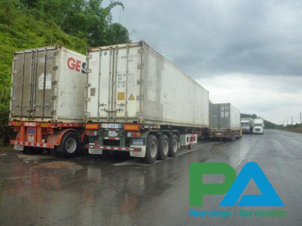 leo container lanh di Lao