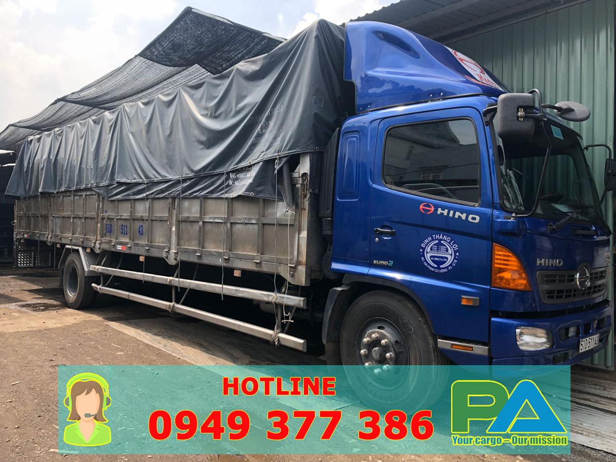 Xe tải vận chuyển hàng từ HCM đi Đà Nẵng