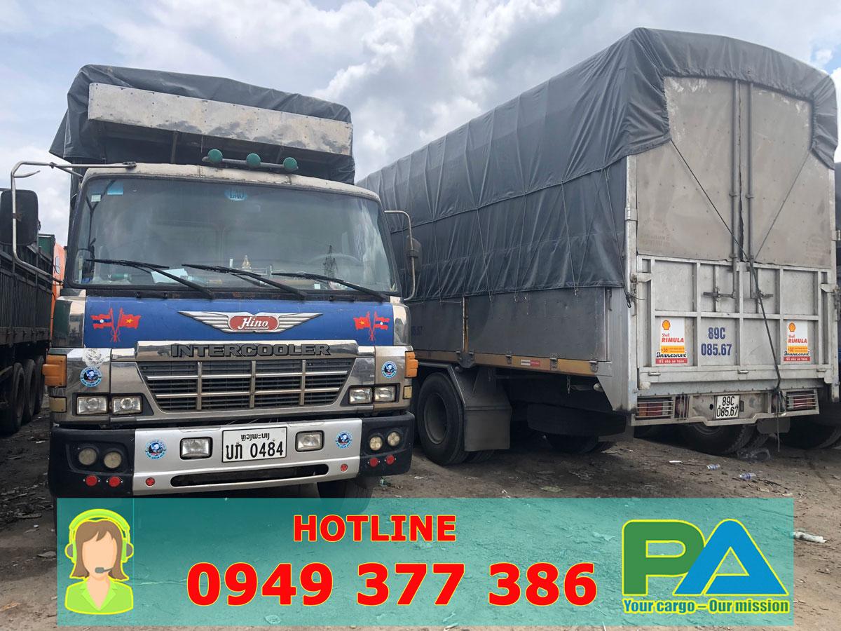 Xe tải tại chành xe vận chuyển hàng đi Pakse