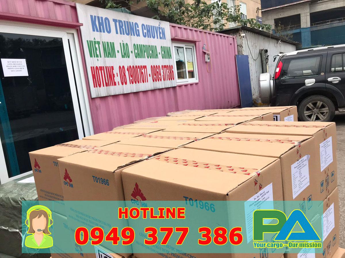 Kho nhận hàng vận chuyển đi Lào