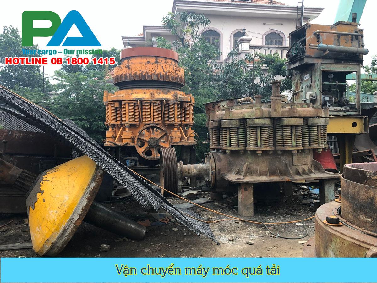 Vận chuyển máy móc quá tải- quá khổ đi Campuchia